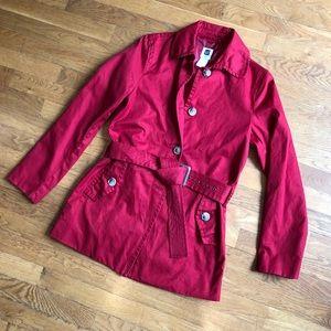 Gap Trench Coat ~ Cherry Red